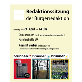 Redaktionssitzung in derRamlerstraße