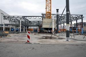 2014 war das Bahnhofsgelände eine Baustelle.