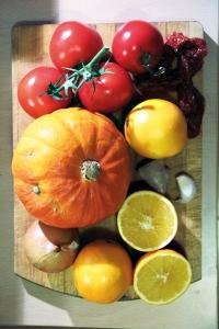 Kürbis und andere Gemüsesorten
