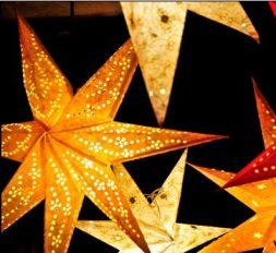 Leuchtende Weihnachtssterne