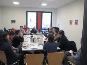 Sitzung der Bürgerredaktion am 14. Januar im Olof-Palme-Zentrum.