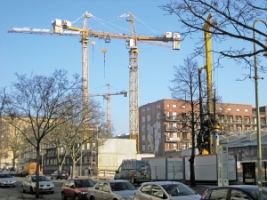 Baustelle Wattstraße im Januar 2017. Foto: Hensel