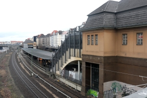 Bahnhof Messe Nord/ICC. Foto: Jakob Hensel