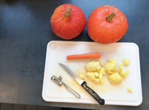 Kürbis, Möhre, Kartoffeln