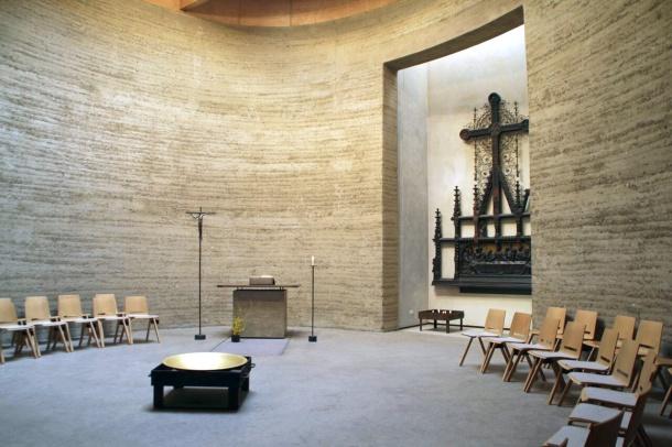 Blick in die Kapelle der Versöhnung